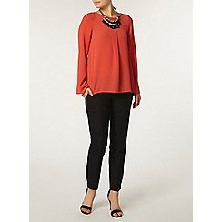 Dorothy Perkins - Coral bell sleeve popcorn top
