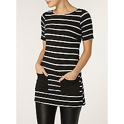 Dorothy Perkins - Stripe patch pocket tunic