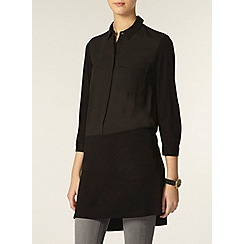 Dorothy Perkins - Tall: black jersey mix shirt