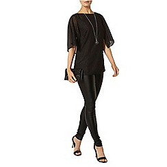 Dorothy Perkins - Black flutter sleeve top
