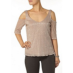 Dorothy Perkins - Blush cold shoulder top