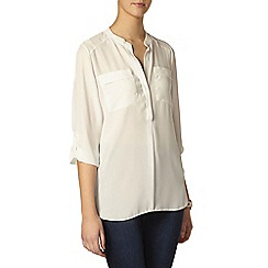 Dorothy Perkins - Tall: ivory 2 pocket shirt