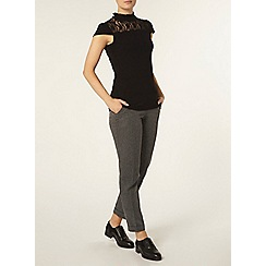 Dorothy Perkins - Black victoriana lace top