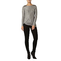 Dorothy Perkins - Silver shimmer twist top
