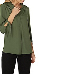Dorothy Perkins - Green tie sleeves top