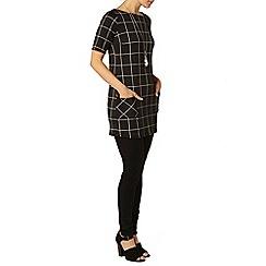 Dorothy Perkins - Black grid check tunic