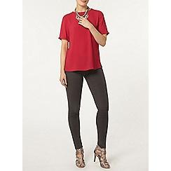 Dorothy Perkins - Raspberry pom pom trim t-shirt