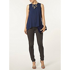 Dorothy Perkins - Navy dip back built up camisole