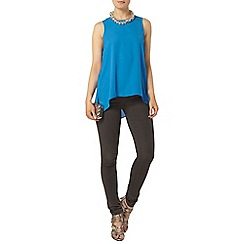 Dorothy Perkins - Blue dip back built up camisole