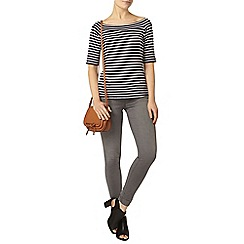 Dorothy Perkins - Navy stripe jersey bardot top