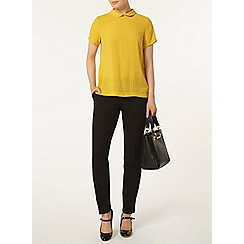 Dorothy Perkins - Ochre collar soft t-shirt