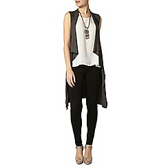 Dorothy Perkins - Grey sleeveless cardigan