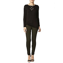 Dorothy Perkins - Black jersey twist top
