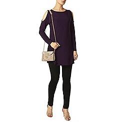 Dorothy Perkins - Purple cold shoulder top