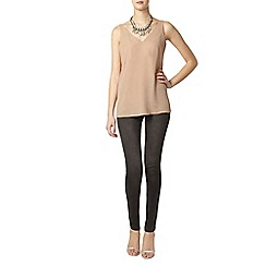 Dorothy Perkins - Tall latte deep v neck camisole