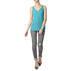 Dorothy Perkins - Tall aqua deep v neck camisole