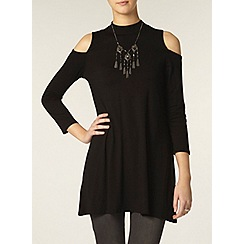 Dorothy Perkins - Tall black cold shoulder tunic