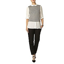 Dorothy Perkins - Grey mono jacquard 2 in 1 top