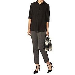 Dorothy Perkins - Black collared 1 pocket shirt