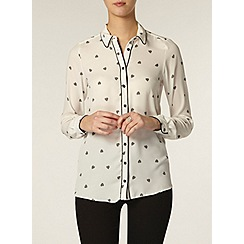 Dorothy Perkins - Tall: heart print piped shirt