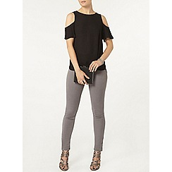 Dorothy Perkins - Black cold shoulder top