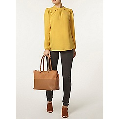 Dorothy Perkins - Ochre frill shoulder top