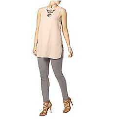 Dorothy Perkins - Blush eyelet tie side top