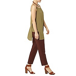 Dorothy Perkins - Green olive longline camisole