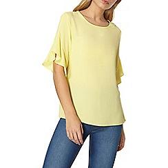 Dorothy Perkins - Lemon ruffle sleeves top