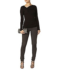 Dorothy Perkins - Black rouched jersey top