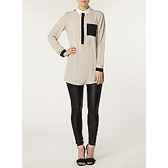 Dorothy Perkins - Longline colour block shirt