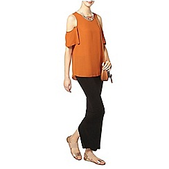 Dorothy Perkins - Tall rust cold shoulder top