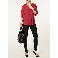 Dorothy Perkins - Raspberry 'notch neck' shirt