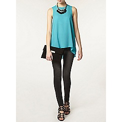 Dorothy Perkins - Tall aqua dip hem built up camisole