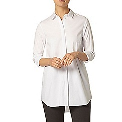 Dorothy Perkins - White longline cotton shirt