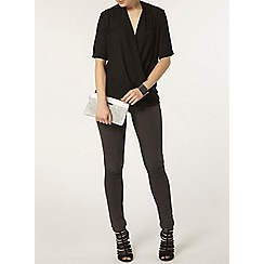 Dorothy Perkins - Black wrap blouse