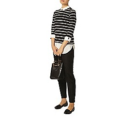 Dorothy Perkins - Black and white stripe 2 in 1 top