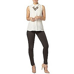 Dorothy Perkins - Ivory lace insert sleeveless shirt