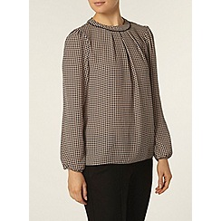 Dorothy Perkins - Mono spot high neck top