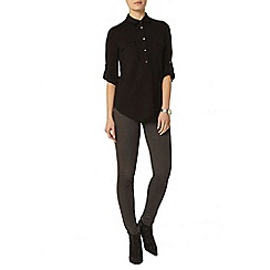 Dorothy Perkins - Black button front shirt