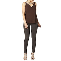 Dorothy Perkins - Chocolate deep v neck cami top