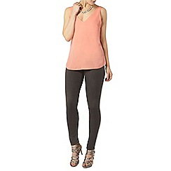 Dorothy Perkins - Apricot deep v neck camisole top