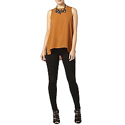 Dorothy Perkins - Tan dip back shell top