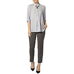 Dorothy Perkins - Silver collar rollsleeve shirt