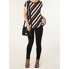 Dorothy Perkins - Diagonal stripe jersey back