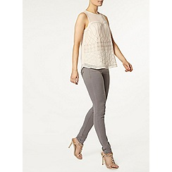 Dorothy Perkins - Blush embellished shell top