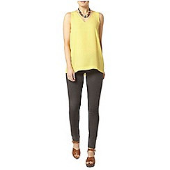 Dorothy Perkins - Lemon v neck shell top