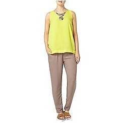 Dorothy Perkins - Lime v neck shell top