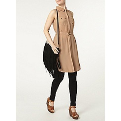 Dorothy Perkins - Stone sleeveless pocket jacket