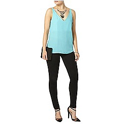 Dorothy Perkins - Blue deep v neck cami top